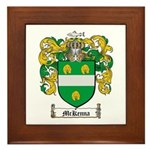 McKenna Family Crest Framed Tile