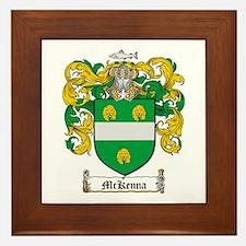 McKenna Family Crest Framed Tile