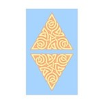 Sunny Triangle Knot Rectangle Sticker 50 pk)