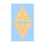 Sunny Triangle Knot Rectangle Sticker 10 pk)
