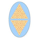 Sunny Triangle Knot Oval Sticker (50 pk)