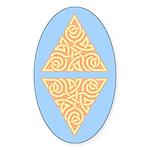 Sunny Triangle Knot Oval Sticker (10 pk)