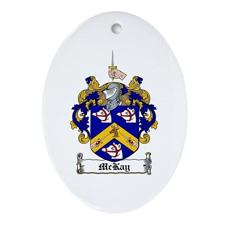 McKay Family Crest Oval Ornament