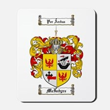 McIntyre Family Crest Mousepad