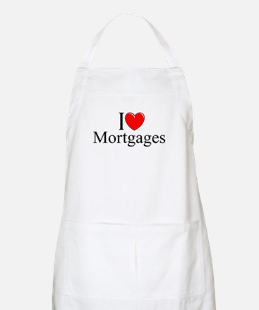"""""""I Love (Heart) Mortgages"""" BBQ Apron"""