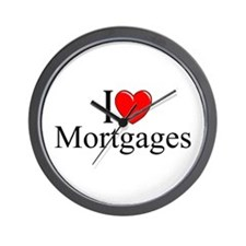 """I Love (Heart) Mortgages"" Wall Clock"