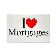 """""""I Love (Heart) Mortgages"""" Rectangle Magnet"""