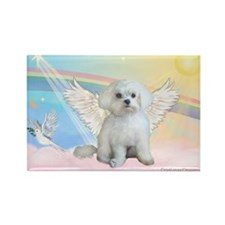 Maltese / Angel Rectangle Magnet