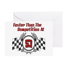 Racing At 53 Greeting Card