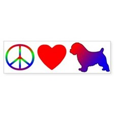 Peace Love Norfolk Terrier Bumper Bumper Sticker
