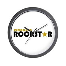 Oregon Rockstar Wall Clock