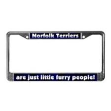 Furry People Norfolk Terrier License Plate Frame