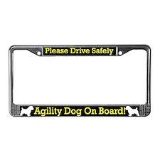 Norfolk Terrier Agility Dog License Plate Frame
