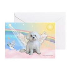 Maltese / Angel Greeting Card