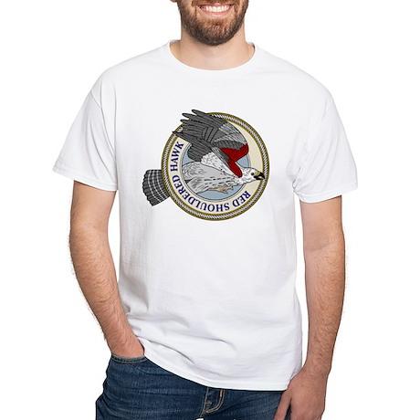 Red Shouldered Hawk White T-Shirt