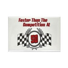 Racing At 50 Rectangle Magnet (10 pack)