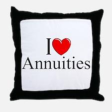 """I Love (Heart) Annuities"" Throw Pillow"