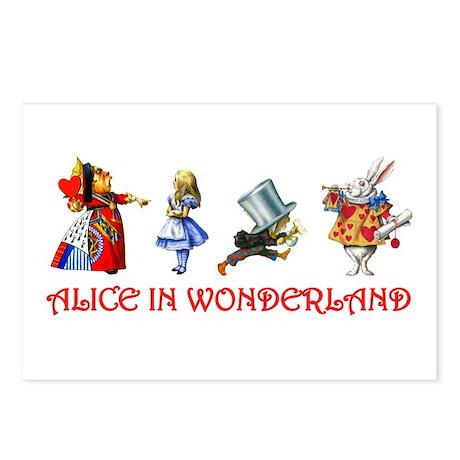 Alice in Wonderland Postcards (Package of 8)