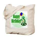 Happy Birthday Turtle Tote Bag