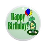 Happy Birthday Turtle Keepsake (Round)