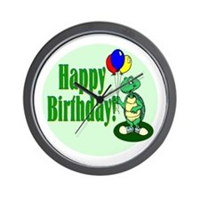 Happy Birthday Turtle Wall Clock