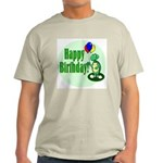 Happy Birthday Turtle Ash Grey T-Shirt