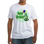 Happy Birthday Turtle Fitted T-Shirt