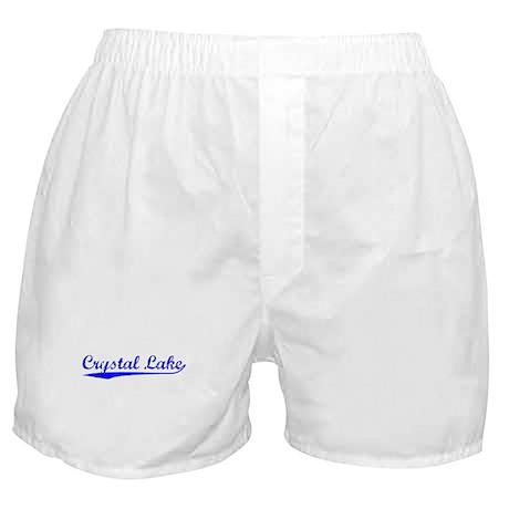 Vintage Crystal Lake (Blue) Boxer Shorts