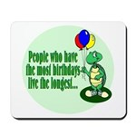 Birthday Turtle Mousepad