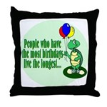 Birthday Turtle Throw Pillow