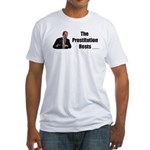 Spitzer The Prostitution Rests Fitted T-Shirt