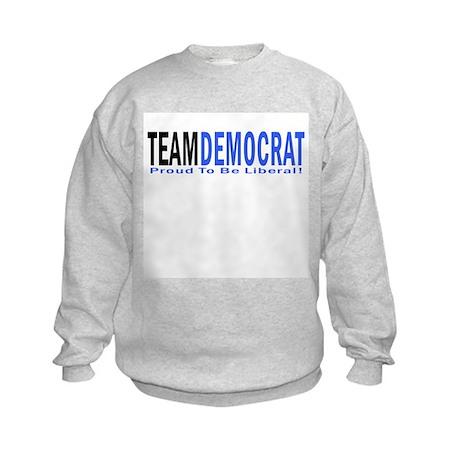 Team Democrat - Proud Liberal Kids Sweatshirt