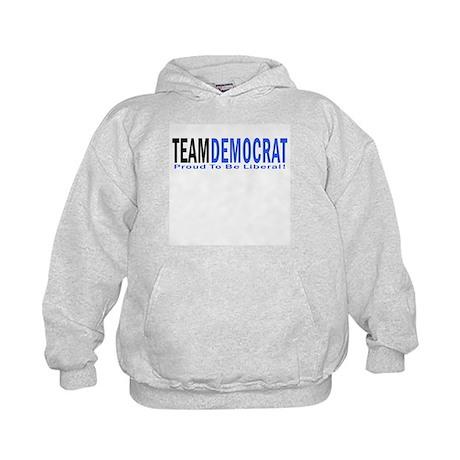 Team Democrat - Proud Liberal Kids Hoodie