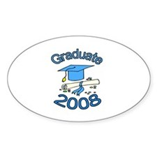 08 Graduate Oval Decal