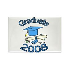 08 Graduate Rectangle Magnet