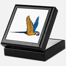 Flying Macaw Parrot Bird Keepsake Box