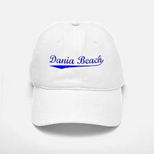 Vintage Dania Beach (Blue) Baseball Baseball Cap