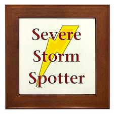Severe Storm Spotter Framed Tile