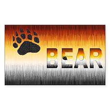 FURRY2-BEAR PRIDE FLAG Rectangle Sticker 10 pk)