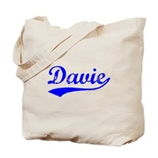 Vintage Davie (Blue) Tote Bag