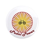 """Pedal Power Cyclist 3.5"""" Button"""