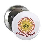 """Pedal Power Cyclist 2.25"""" Button"""