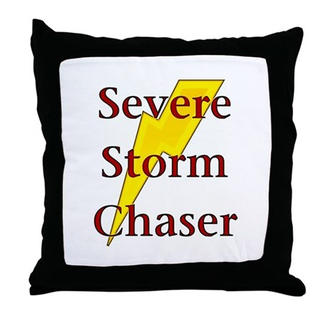 Severe Storm Chaser Throw Pillow