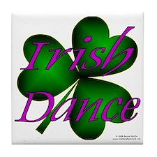 Neon Irish Dance - Tile Coaster