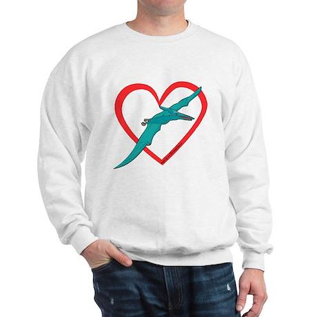 Heart Flying Dino Sweatshirt