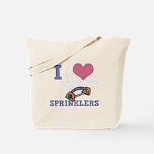 I Love (Heart) Sprinklers Tote Bag