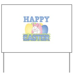 Cute Happy Easter Design Yard Sign