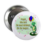 Turtle Birthday Button