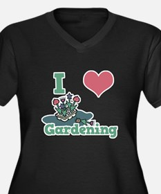 I Love (Heart) Gardening Women's Plus Size V-Neck