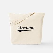 Vintage Mariam (Black) Tote Bag